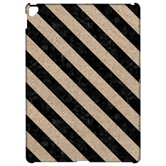 Stripes3 Black Marble & Sand Apple Ipad Pro 12 9   Hardshell Case by trendistuff