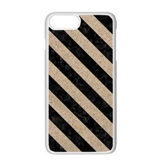 Stripes3 Black Marble & Sand Apple Iphone 7 Plus Seamless Case (white) by trendistuff
