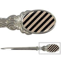 Stripes3 Black Marble & Sand (r) Letter Openers