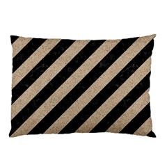 Stripes3 Black Marble & Sand (r) Pillow Case by trendistuff