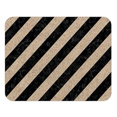 Stripes3 Black Marble & Sand (r) Double Sided Flano Blanket (large)  by trendistuff