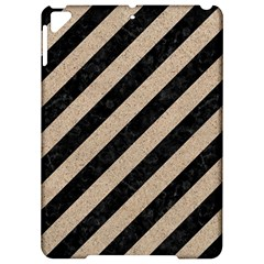 Stripes3 Black Marble & Sand (r) Apple Ipad Pro 9 7   Hardshell Case by trendistuff