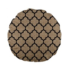 Tile1 Black Marble & Sand Standard 15  Premium Flano Round Cushions by trendistuff