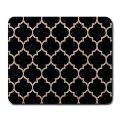 Tile1 Black Marble & Sand (r) Large Mousepads by trendistuff
