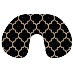 Tile1 Black Marble & Sand (r) Travel Neck Pillows by trendistuff