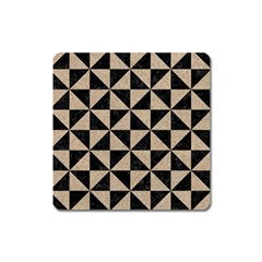 Triangle1 Black Marble & Sand Square Magnet by trendistuff