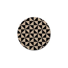 Triangle1 Black Marble & Sand Golf Ball Marker (10 Pack) by trendistuff
