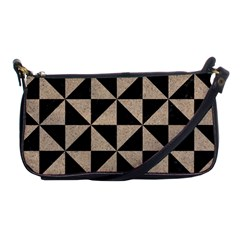 Triangle1 Black Marble & Sand Shoulder Clutch Bags by trendistuff