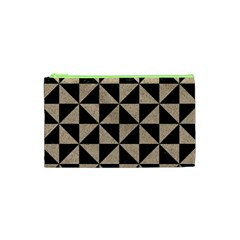 Triangle1 Black Marble & Sand Cosmetic Bag (xs) by trendistuff