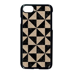 Triangle1 Black Marble & Sand Apple Iphone 8 Seamless Case (black) by trendistuff