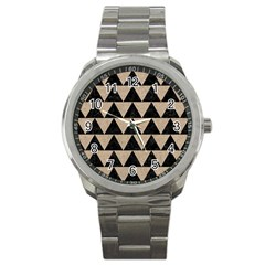 Triangle2 Black Marble & Sand Sport Metal Watch