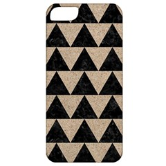 Triangle2 Black Marble & Sand Apple Iphone 5 Classic Hardshell Case by trendistuff