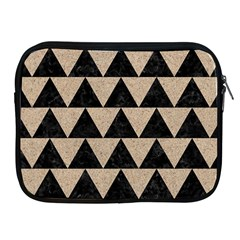 Triangle2 Black Marble & Sand Apple Ipad 2/3/4 Zipper Cases by trendistuff