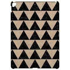 Triangle2 Black Marble & Sand Apple Ipad Pro 12 9   Hardshell Case by trendistuff
