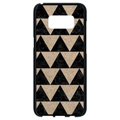 Triangle2 Black Marble & Sand Samsung Galaxy S8 Black Seamless Case by trendistuff