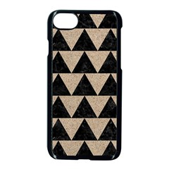 Triangle2 Black Marble & Sand Apple Iphone 8 Seamless Case (black) by trendistuff