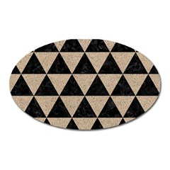 Triangle3 Black Marble & Sand Oval Magnet by trendistuff