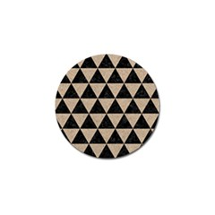 Triangle3 Black Marble & Sand Golf Ball Marker by trendistuff