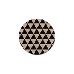 Triangle3 Black Marble & Sand Golf Ball Marker (4 Pack) by trendistuff
