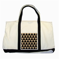Triangle3 Black Marble & Sand Two Tone Tote Bag by trendistuff