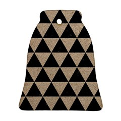 Triangle3 Black Marble & Sand Ornament (bell) by trendistuff