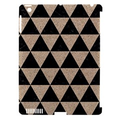 Triangle3 Black Marble & Sand Apple Ipad 3/4 Hardshell Case (compatible With Smart Cover) by trendistuff