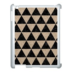 Triangle3 Black Marble & Sand Apple Ipad 3/4 Case (white) by trendistuff