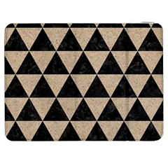 Triangle3 Black Marble & Sand Samsung Galaxy Tab 7  P1000 Flip Case by trendistuff