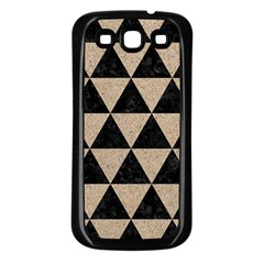 Triangle3 Black Marble & Sand Samsung Galaxy S3 Back Case (black) by trendistuff