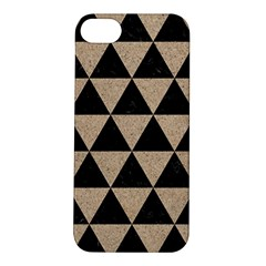 Triangle3 Black Marble & Sand Apple Iphone 5s/ Se Hardshell Case by trendistuff
