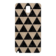 Triangle3 Black Marble & Sand Samsung Galaxy Note 3 N9005 Hardshell Back Case by trendistuff