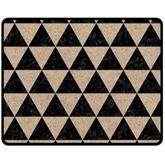 Triangle3 Black Marble & Sand Double Sided Fleece Blanket (medium)  by trendistuff