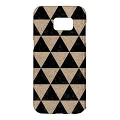 Triangle3 Black Marble & Sand Samsung Galaxy S7 Edge Hardshell Case by trendistuff