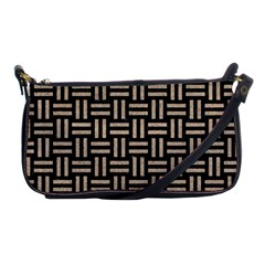 Woven1 Black Marble & Sand (r) Shoulder Clutch Bags by trendistuff