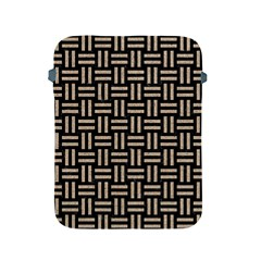 Woven1 Black Marble & Sand (r) Apple Ipad 2/3/4 Protective Soft Cases by trendistuff