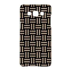 Woven1 Black Marble & Sand (r) Samsung Galaxy A5 Hardshell Case  by trendistuff