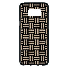 Woven1 Black Marble & Sand (r) Samsung Galaxy S8 Plus Black Seamless Case by trendistuff