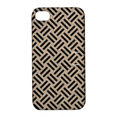 Woven2 Black Marble & Sand Apple Iphone 4/4s Hardshell Case With Stand by trendistuff