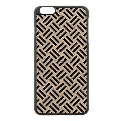 Woven2 Black Marble & Sand Apple Iphone 6 Plus/6s Plus Black Enamel Case by trendistuff