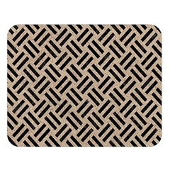 Woven2 Black Marble & Sand Double Sided Flano Blanket (large)  by trendistuff
