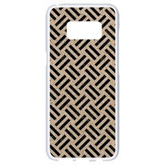 Woven2 Black Marble & Sand Samsung Galaxy S8 White Seamless Case by trendistuff