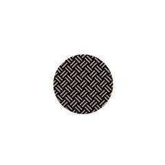 Woven2 Black Marble & Sand (r) 1  Mini Buttons by trendistuff