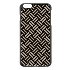 Woven2 Black Marble & Sand (r) Apple Iphone 6 Plus/6s Plus Black Enamel Case by trendistuff