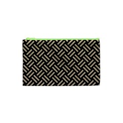 Woven2 Black Marble & Sand (r) Cosmetic Bag (xs) by trendistuff