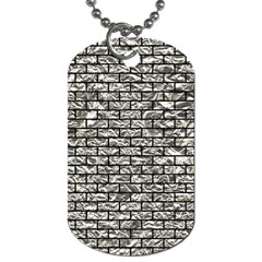 Brick1 Black Marble & Silver Foil Dog Tag (two Sides) by trendistuff