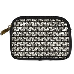Brick1 Black Marble & Silver Foil Digital Camera Cases by trendistuff