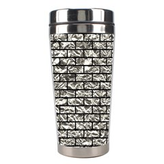 Brick1 Black Marble & Silver Foil Stainless Steel Travel Tumblers by trendistuff