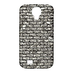 Brick1 Black Marble & Silver Foil Samsung Galaxy S4 Classic Hardshell Case (pc+silicone) by trendistuff