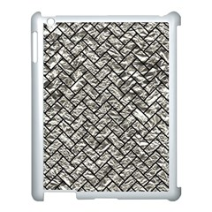 Brick2 Black Marble & Silver Foil Apple Ipad 3/4 Case (white) by trendistuff