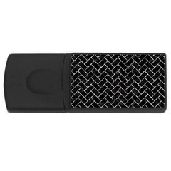 Brick2 Black Marble & Silver Foil (r) Rectangular Usb Flash Drive by trendistuff
